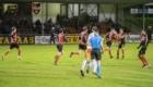 01-02-2020: Voetbal: De Treffers v VV Katwijk: Groesbeek             Treffers heeft haast na de 1-2 van Bryan Sirvania 5 van De Treffers