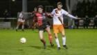 01-02-2020: Voetbal: De Treffers v VV Katwijk: Groesbeek        Abel Franssen van De Treffers, Jordy Hilterman van VV Katwijk
