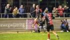 01-02-2020: Voetbal: De Treffers v VV Katwijk: Groesbeek          Coen Maertzdorf van De Treffers viert zijn doelpunt 2-2